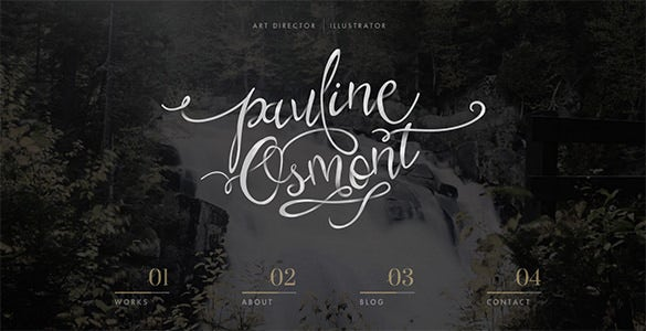 pauline osmont flat design website