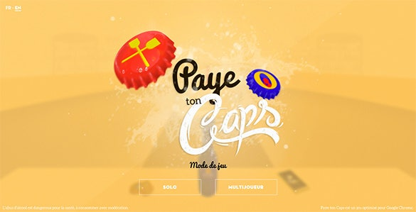 paye ton caps flat design website