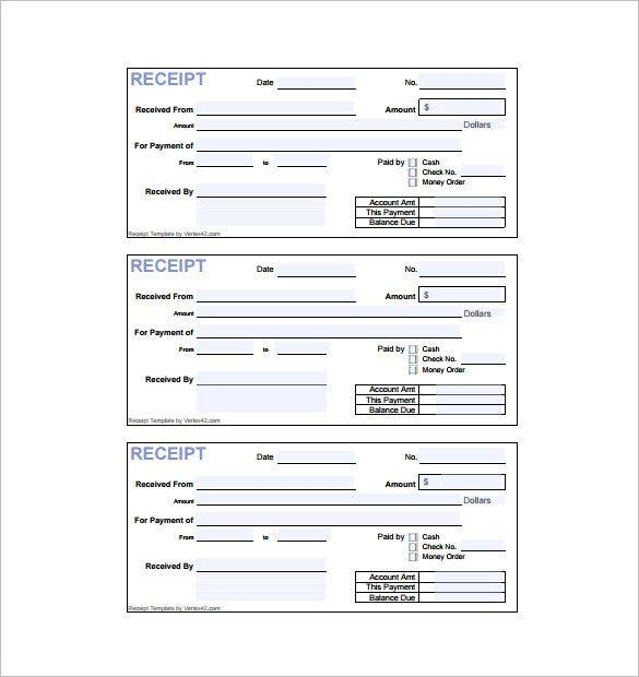 8 invoice receipt templates doc pdf free premium for Receipts for payments template