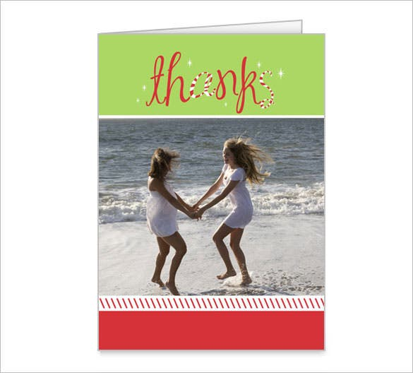 peppermint bliss holiday printable thank you card