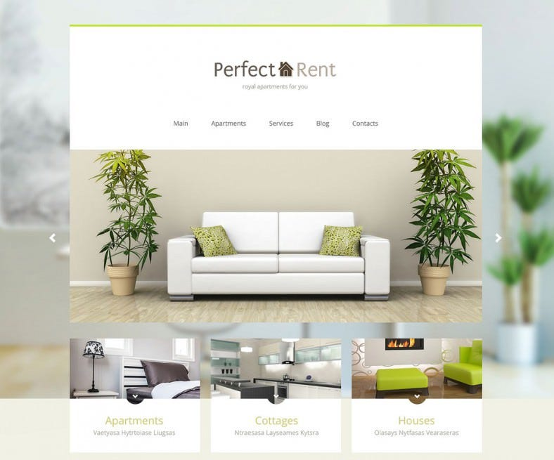 Perfect Joomla Template for Apartments Rental