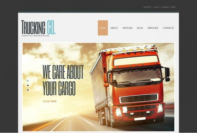 Perfect Joomla Theme for Transportation Field