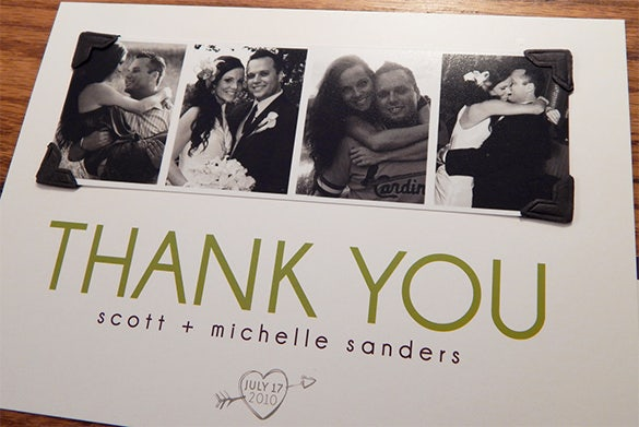 perfect photo thank you card