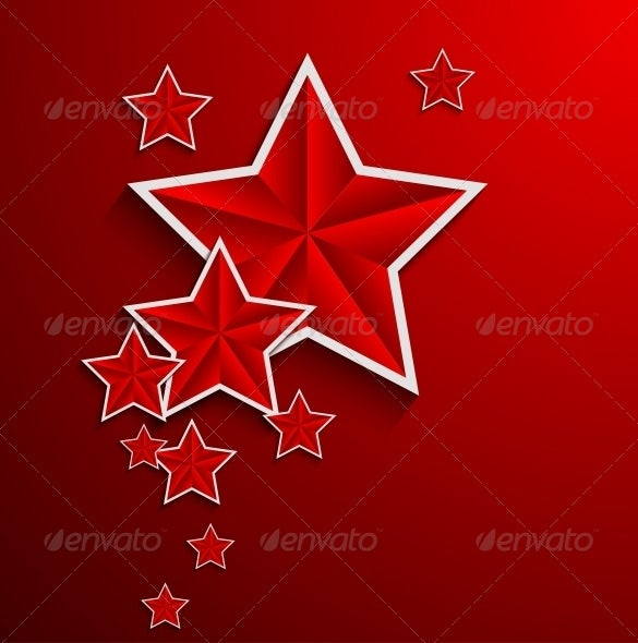 perfect premium red star background