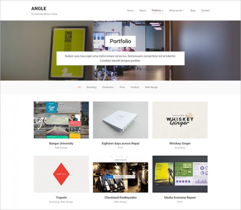 Perfect WordPress Template for Portfolio