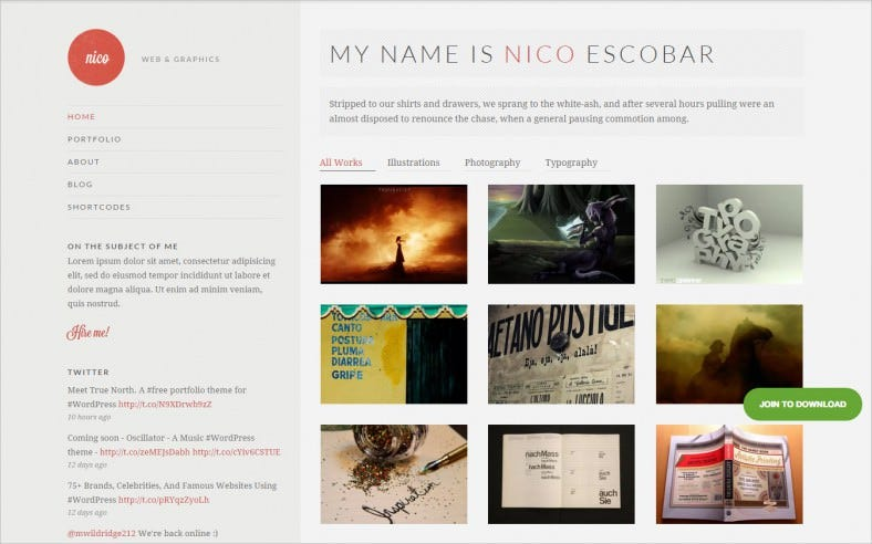 Perfect WordPress Theme for Personal Portfolio