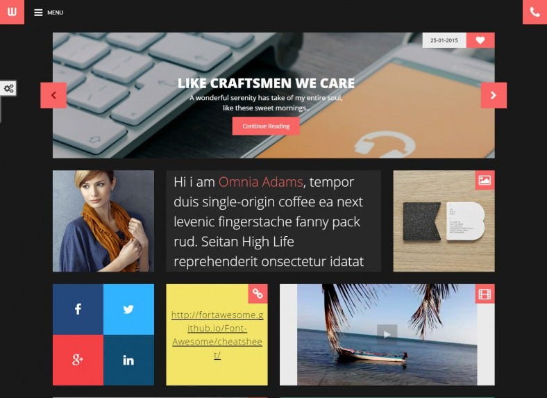 Personal Blogger Dark HTML5 Template