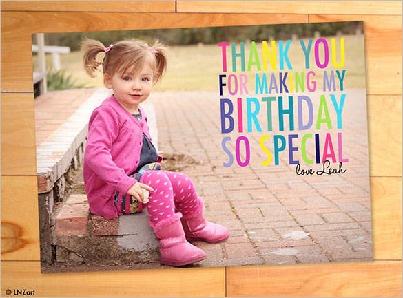 thank you cards  free printable psd, eps, word, pdf, Birthday card