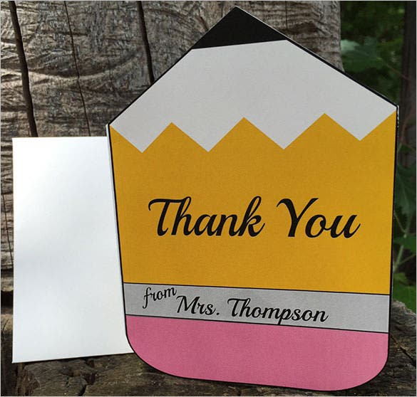 personalized teacher thank youcard