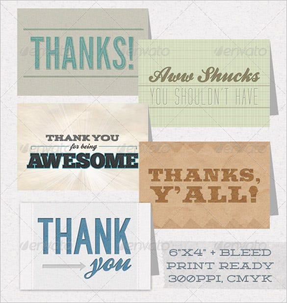 personalized thank you card 5 pack
