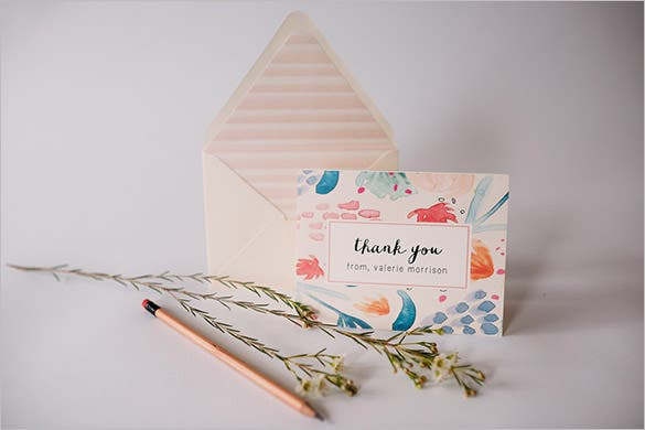 personalized thank you card template free
