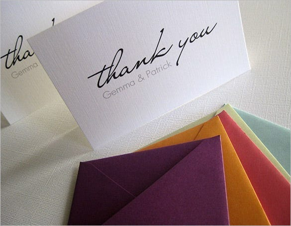 personalized thank you cards set