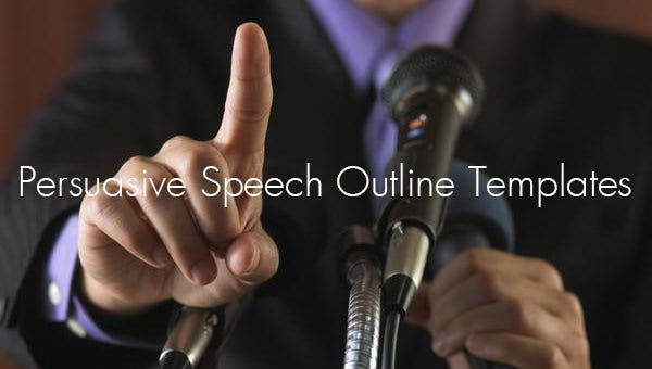 persuasive speech outline templates