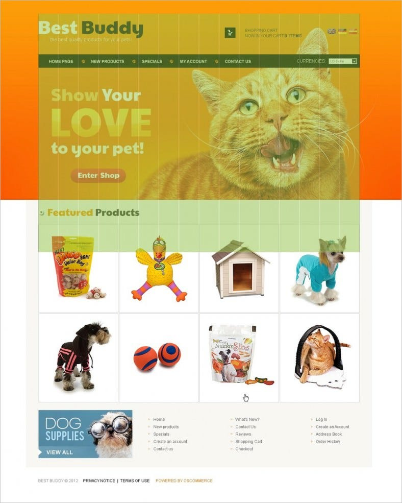 pet shop oscommerce template 788x985