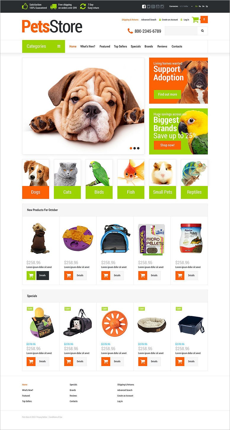 pets supplies shop oscommerce template