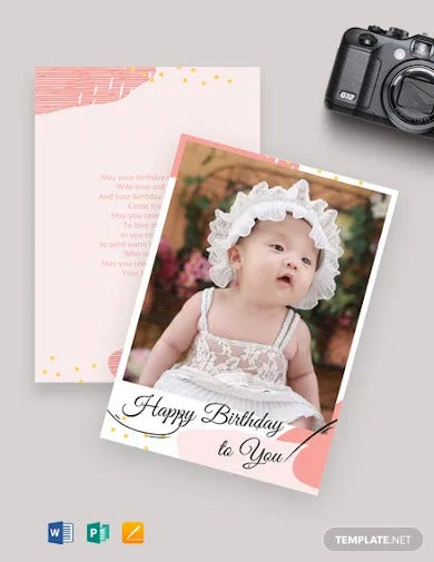 photo birthday card template