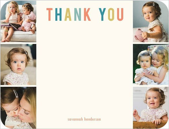 photo gallery thank you card template
