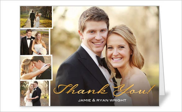 photo gallery of gratitude thank you card