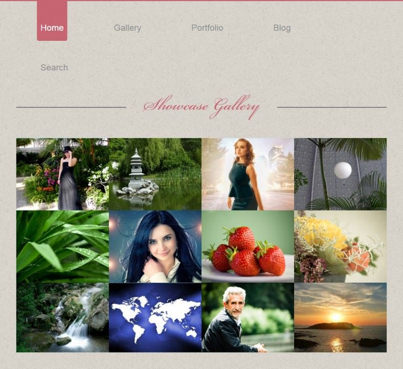 photo showcase gallery web and mobile template for free 788x722