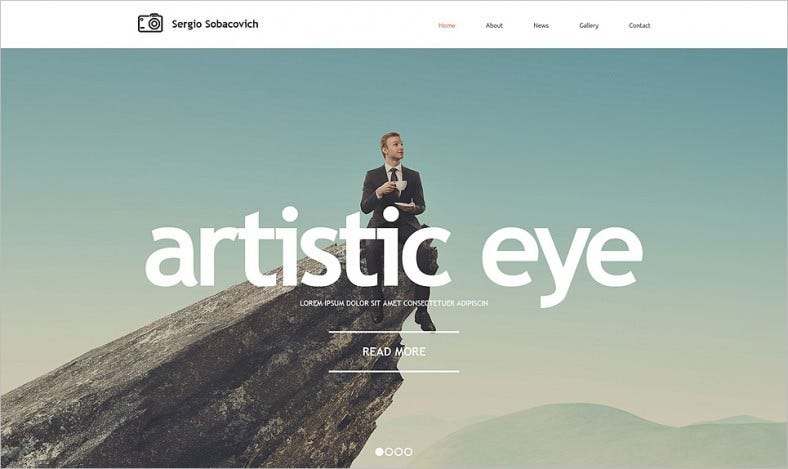 photographer portfolio responsive website template 788x469