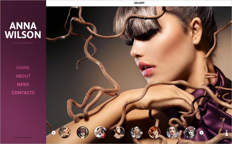 photographer portfolio website template 788x492