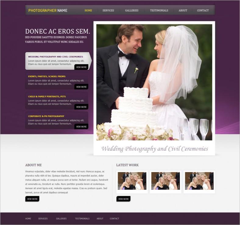photographer website template 788x740