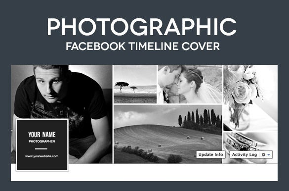 photographic facebook timeline cover psd template 2