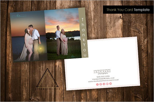 17 business thank you cards free printable psd eps format photography business thank you card template wajeb Gallery