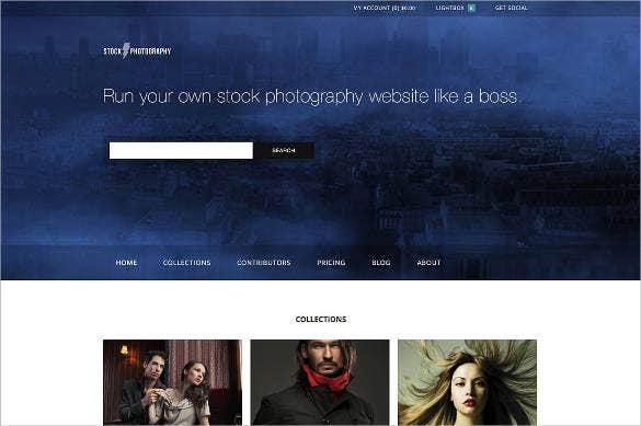 photography e commerce website theme