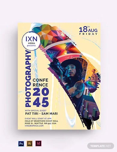 photography event conference flyer template