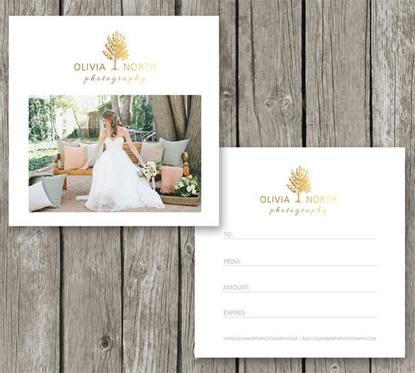 photography gift card template for photographers