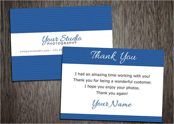 photography thank you card template download