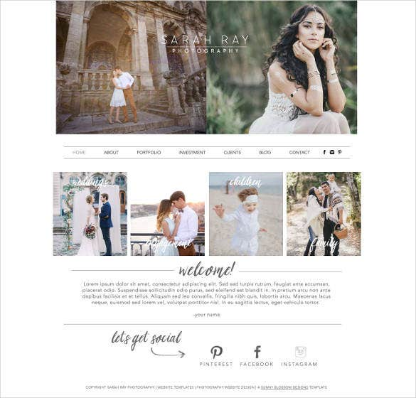 photography wix website template