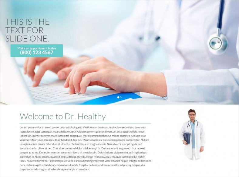 Physicians One Page Wp Template
