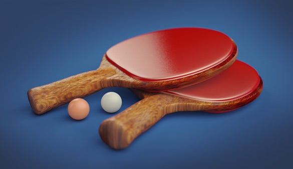 ping pong paddle render in cinema 4d