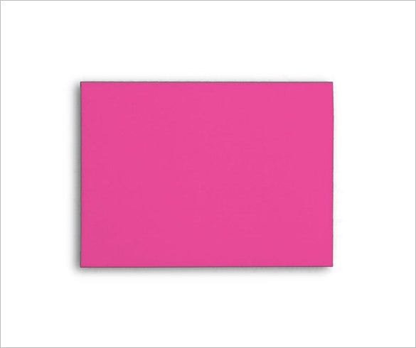 pink colour a7 envelop template