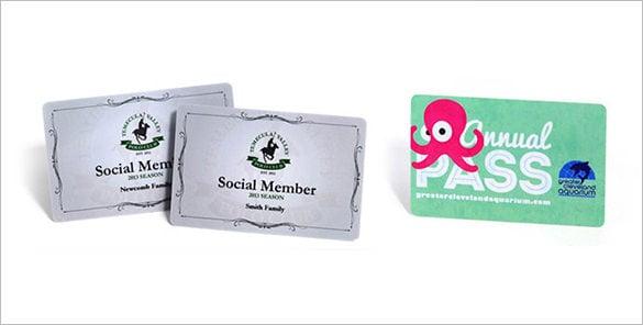 plastic membership card example