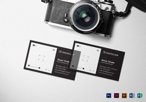 39 unique business card designs free premium templates plastic photographer business card template accmission Choice Image
