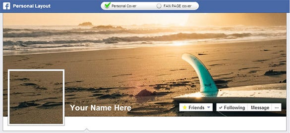 playground beach facebook cover banner template