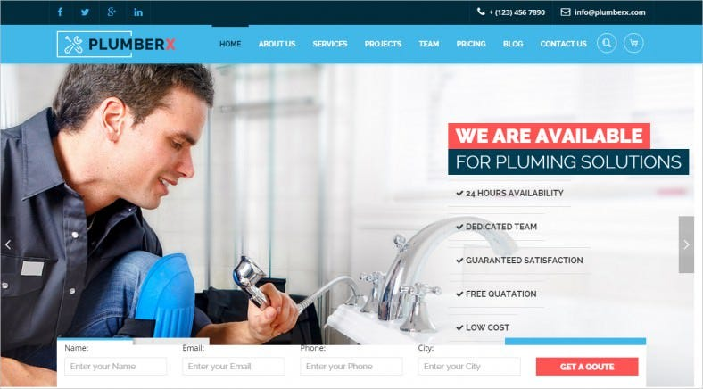 Plumbing & Construction Business HTML Template