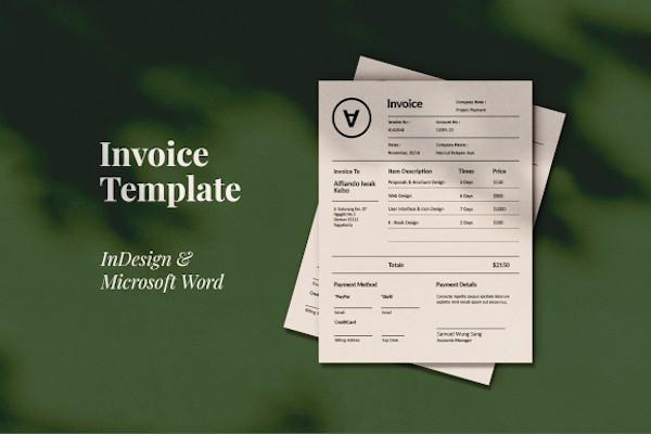 polem invoice template