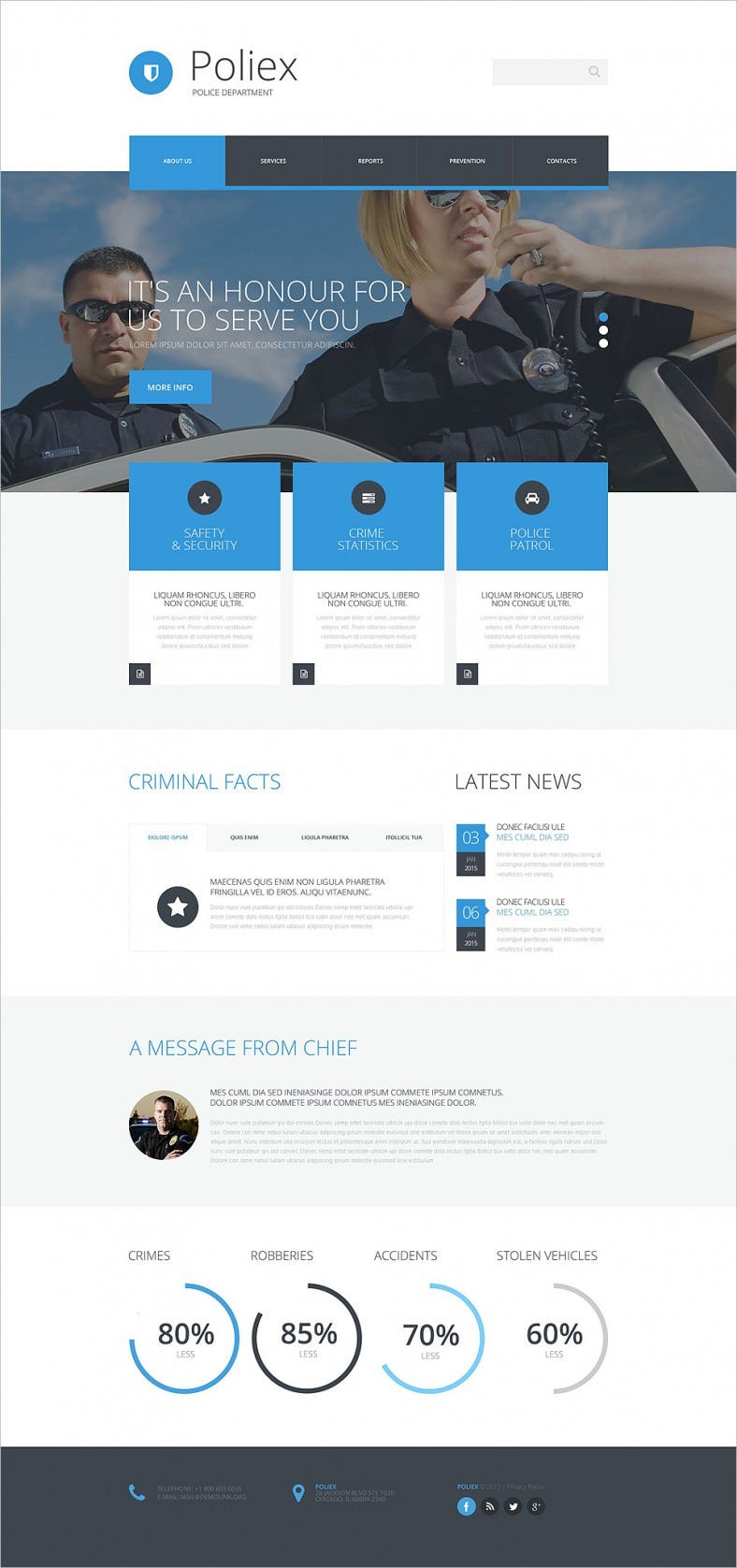 Police Department Security Website Template