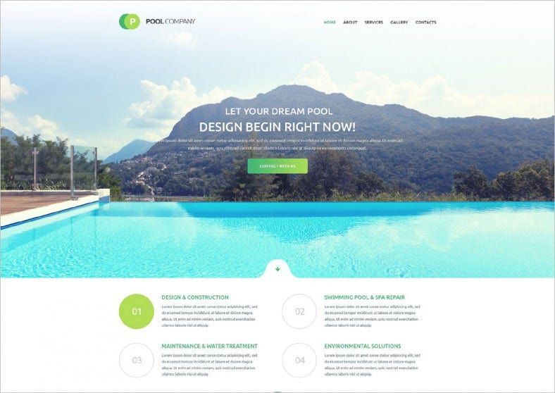 pool cleaning responsive website template 788x558