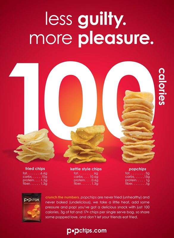 popchips magazine ad design
