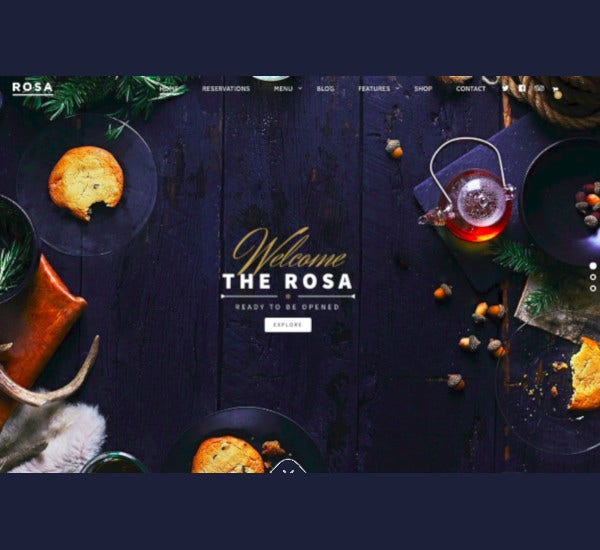 portfolio exquisite restaurant wordpress theme