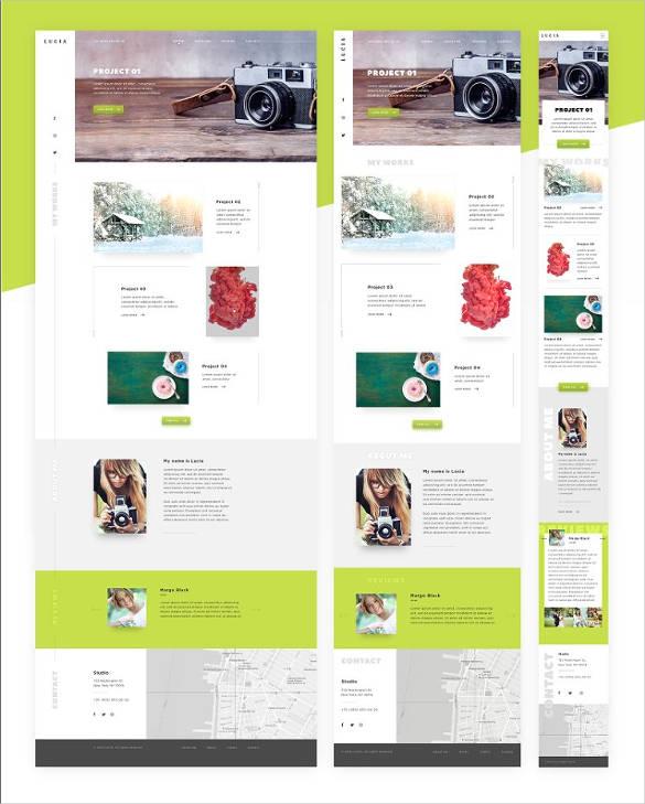 portfolio website theme template
