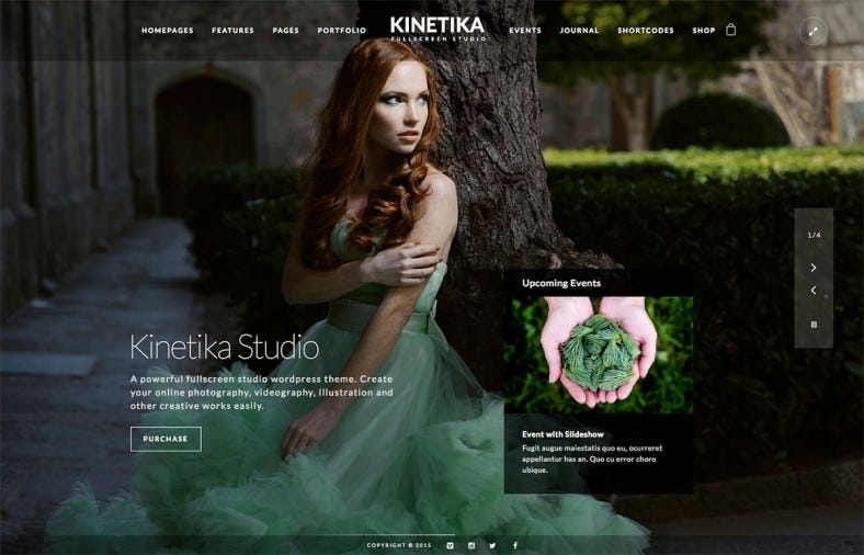Powerful Fullscreen Photography WordPress Theme