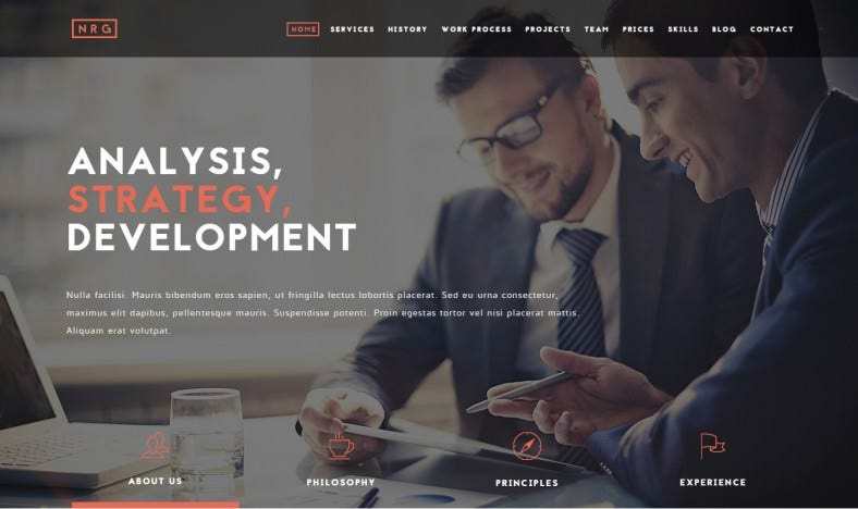 Powerful One-Page Business Drupal Theme
