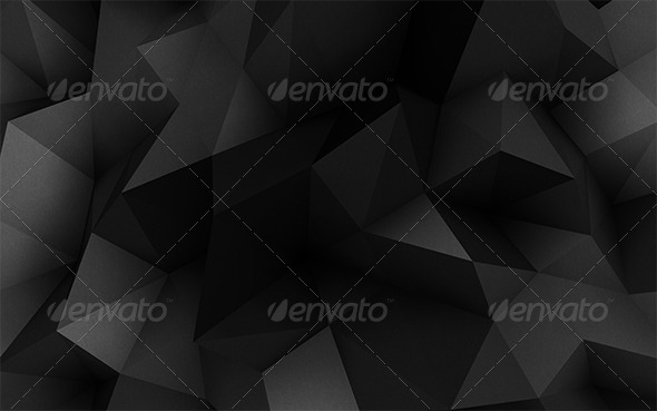 premium 3d polygon dark background