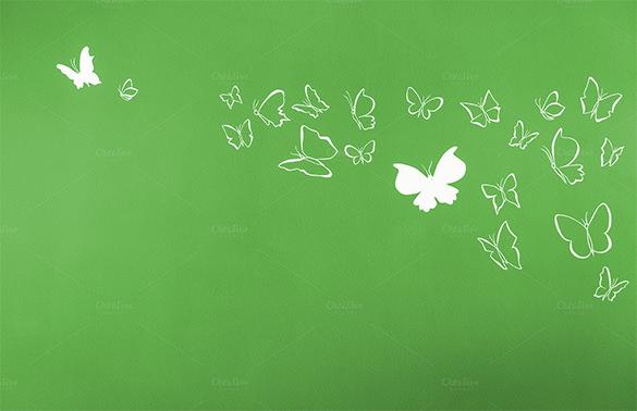 premium butterflies in green background